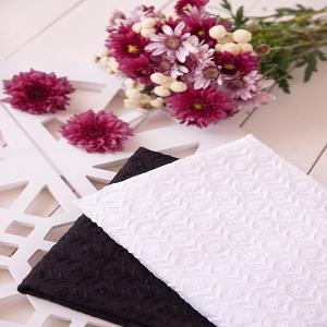 خامه دوزی طرح گل زمینه سفید