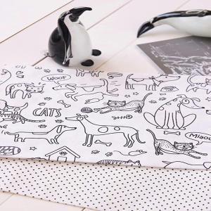 کتان ترک حیوانات - سیاه و سفید